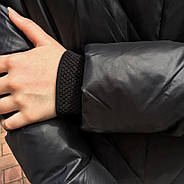 Длинный пуховик с капюшоном TARUN Y020-860-black, фото 4