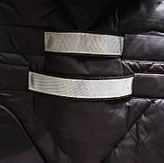 Длинный пуховик с капюшоном TARUN Y020-860-black, фото 5