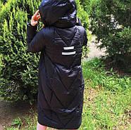 Длинный пуховик с капюшоном TARUN Y020-860-black, фото 3