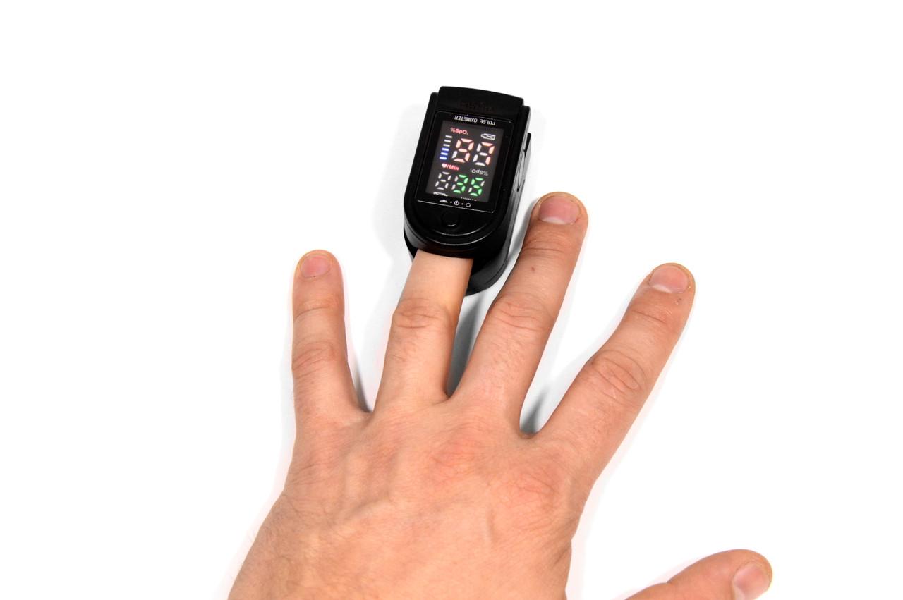 Бездротовий Вимірювач пульсу Fingertip Pulse Oximeter LK87 пульсометр на палець, компактний пульсоксиметр