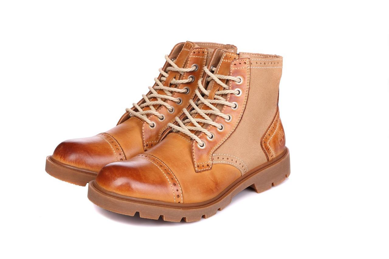 Ботинки мужские Timberland Oxford High Yellow (тимберленд) коричневые -  Мультибрендовый интернет-магазин обуви cb0160676eeb3
