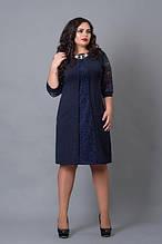 Платье женское OFS-505-14 размер 58-60 темно-синее