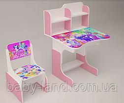 Парта шкільна дитяча растишка ЛІТЛ ПОНІ 018, рожева
