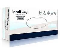 Ideall Перчатки виниловые неопудренные размер L, 100 шт.