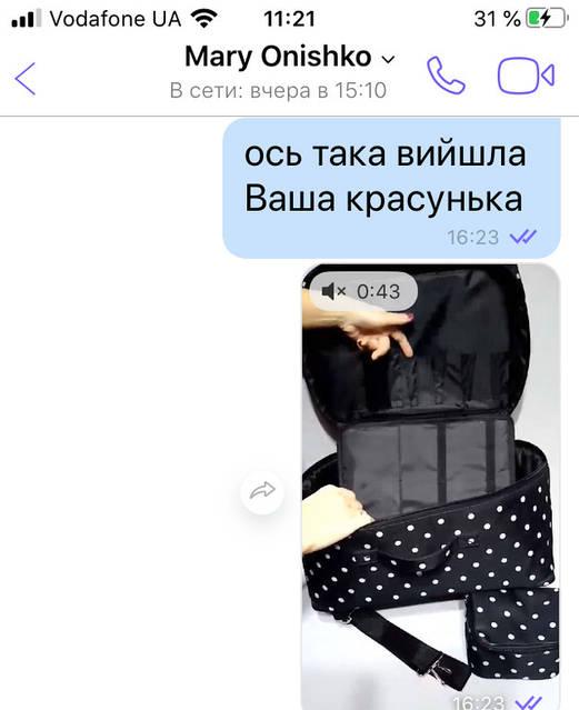 Комплект: сумка для парикмахера + чехол для ножниц + косметичка для Марии со Львова