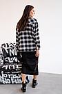 Сорочка oversize для вагітних в клітку демісезонна чернаяТо Be (42-48) 4274214, фото 3