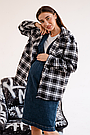 Сорочка oversize для вагітних в клітку демісезонна чернаяТо Be (42-48) 4274214, фото 5