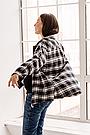 Сорочка oversize для вагітних в клітку демісезонна чернаяТо Be (42-48) 4274214, фото 6