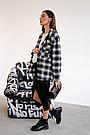 Сорочка oversize для вагітних в клітку демісезонна чернаяТо Be (42-48) 4274214, фото 8