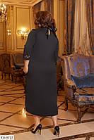 """Платье женское итальянский трикотаж, сетка  (48-50;52-54;56-58;60-62) """"Vidi Alle"""" 2P/GA-4814"""