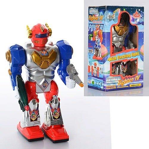 KM28052 Робот   22-12-6см, ходит, звук, свет, на бат-ке, в кор-ке, 12-21,5-8см