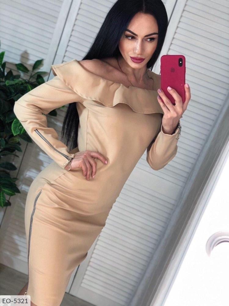 """Платье женское креп костюмка (42-44;44-46) """"Viktorya"""" 2P/NR-849"""