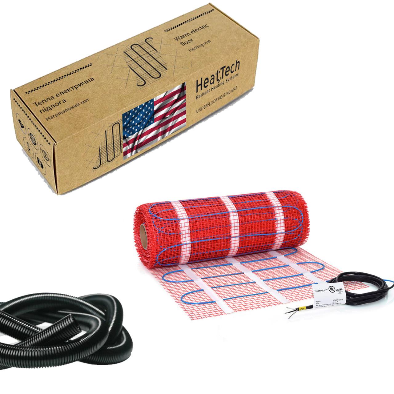 Нагревательный мат для теплого пола HeatTech (США) HTMAT 1200 Вт 6,6 м.кв.