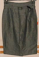 Юбка прямая из серого льна с завышенной талией Sinequanone, фото 1