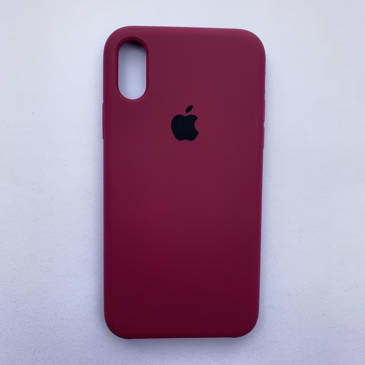 Чехол-накладка Silicone Case для Apple iPhone X iPhone XS Cherry
