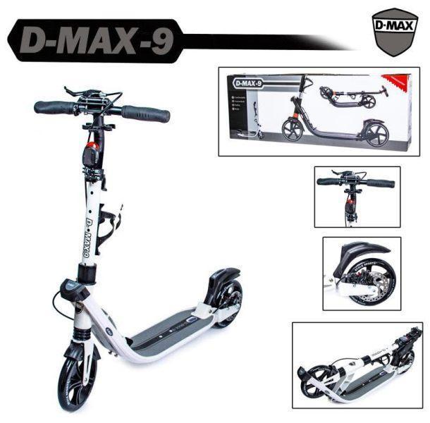 Двухколесный городской самокат складной Scale Sports D-MAX-9 до 115 кг Дисковый тормоз
