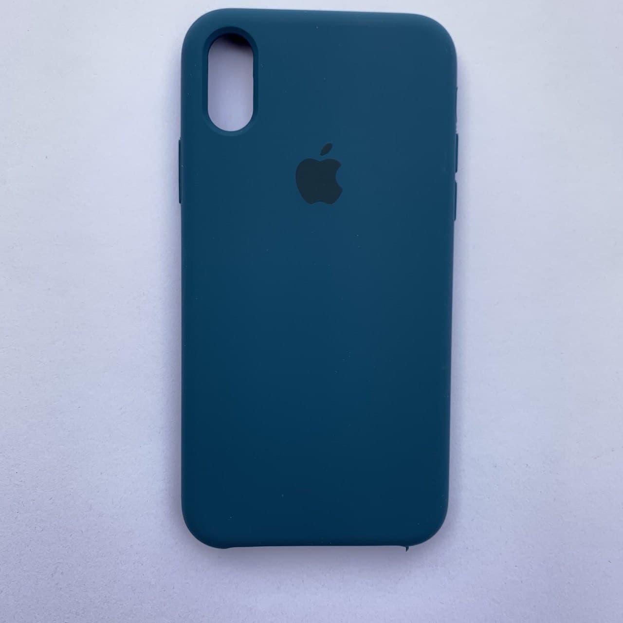Чехол Silicone Case для Apple iPhone X, XS Cosmos Blue