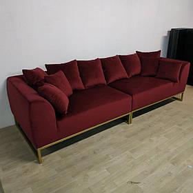 Диван прямой дизайнерский под заказ№-1 (Мебель-Плюс TM)