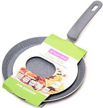 Сковорода млинна з гранітним антипригарним покриттям d=22 см Kamille KM-4205GR
