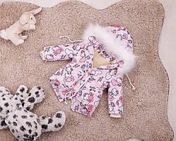 Рожева зимова парку Hello Kitty для дівчаток 80-146 р