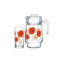 Графин со стаканами Arcopal Red Romance P6038 7 предметов