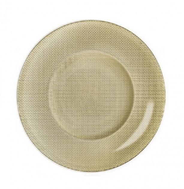 Блюдо кругле 31 см Inca Золото Bormioli Rocco 450012-MP-2321910