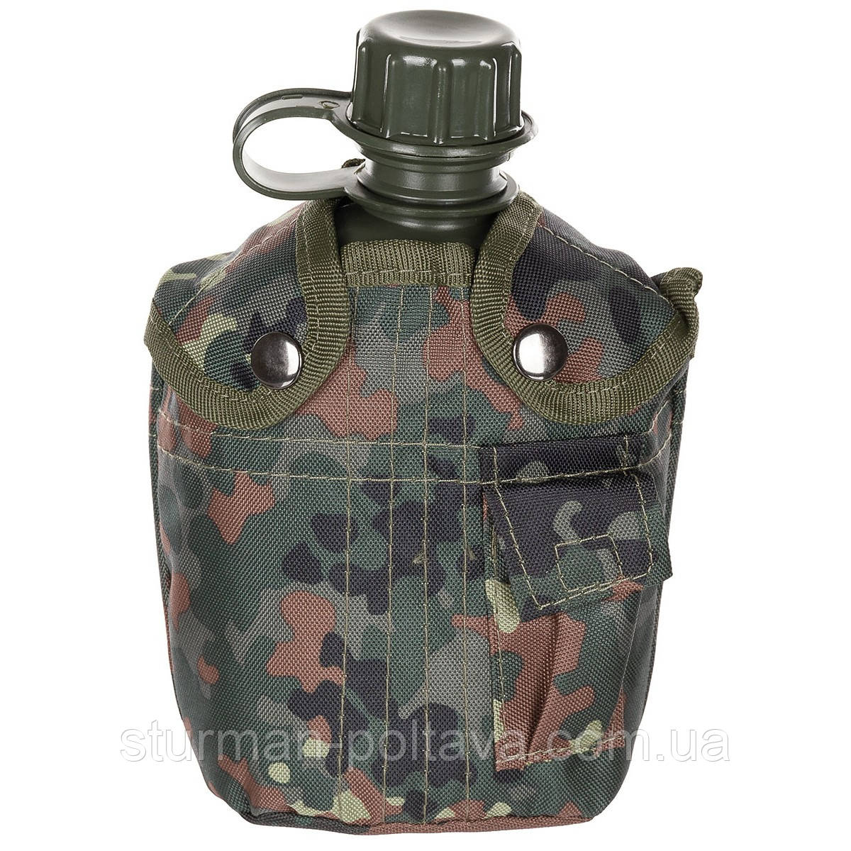 Фляга армеская пластикова на 1 літр з термочехлом flecktarn, BPA-frei MFH Німеччина