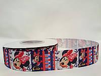 """Репс лента с рисунком 2,5см  """"Mickey Mouse"""""""