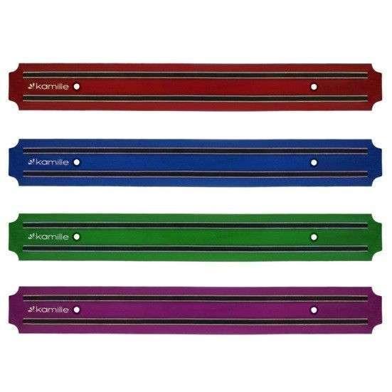 Держатель магнитный для ножей 38см (красный, синий, зелений, фиолетовый) Kamille (a1052)