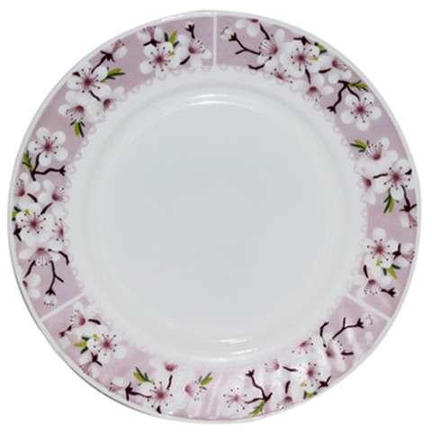 Десертная тарелка d=19 см цветы сакуры SNT 30072-15017