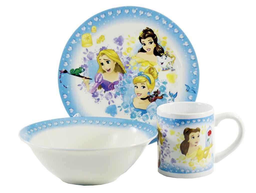 Детская посуда Interos Принцессы TO-15 3 предмета