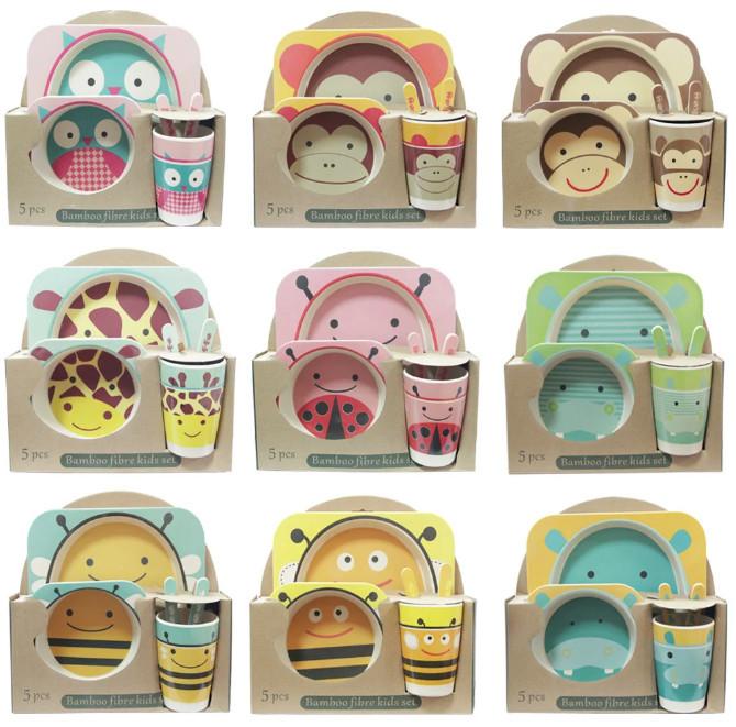 Детская посуда OLens Бамбук О-8030-58 5 предметов