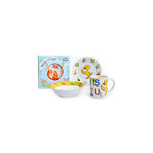 Детский набор столовой посуды 3 пр Smarty Milika M0690-4