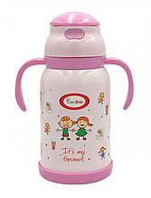 Детский термос-поилка 380 мл Con Brio CB-383-pink