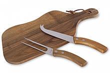 Доска для подачи сыра с ножом и вилкой 35х15 см Husla 73922