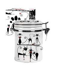Ємність для сипучих продуктів 0.75 л Чорна кішка SNT 629-12