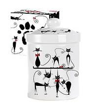 Емкость для сыпучих продуктов 700 мл Черная кошка SNT 6922-12