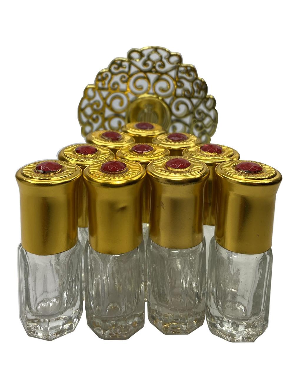Флакон-роллер  стеклянный  для масляных духов с шариком 3 мл