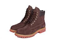 Ботинки мужские Timberland  6 inch Brown Lite Edition  (тимберленд)  коричневые, фото 1