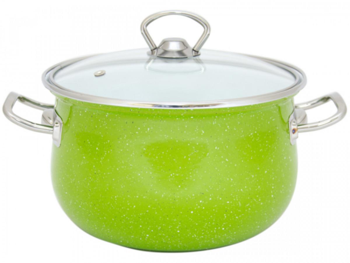 Каструля зі скляною кришкою Infinity Green SCE-P-554-B 5 л, 22 см