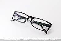 Пластиковые черные очки для зрения на заказ по рецепту. Корейские линзы с антибликом, фото 1