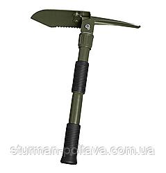 Мульти инструмент   лопата , кирка- мотыга  в футляре olive,  3 в 1  MFH Германия