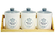 Набір банок для зберігання Interos Корона ZFC-048-CR 3 шт