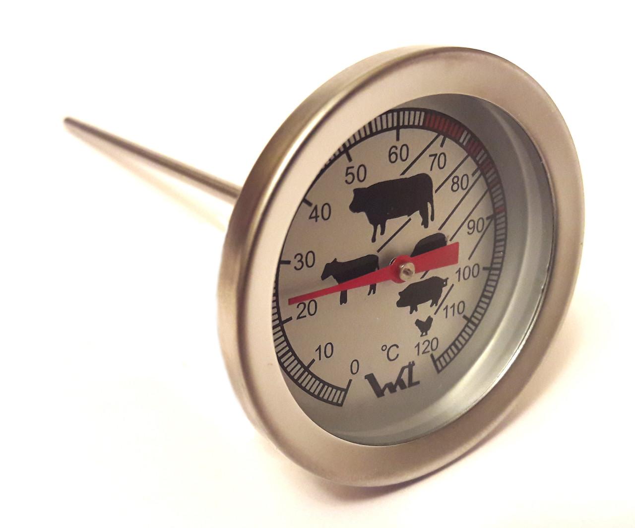 Термометр биметаллический для пищевых продуктов 0...+120°C