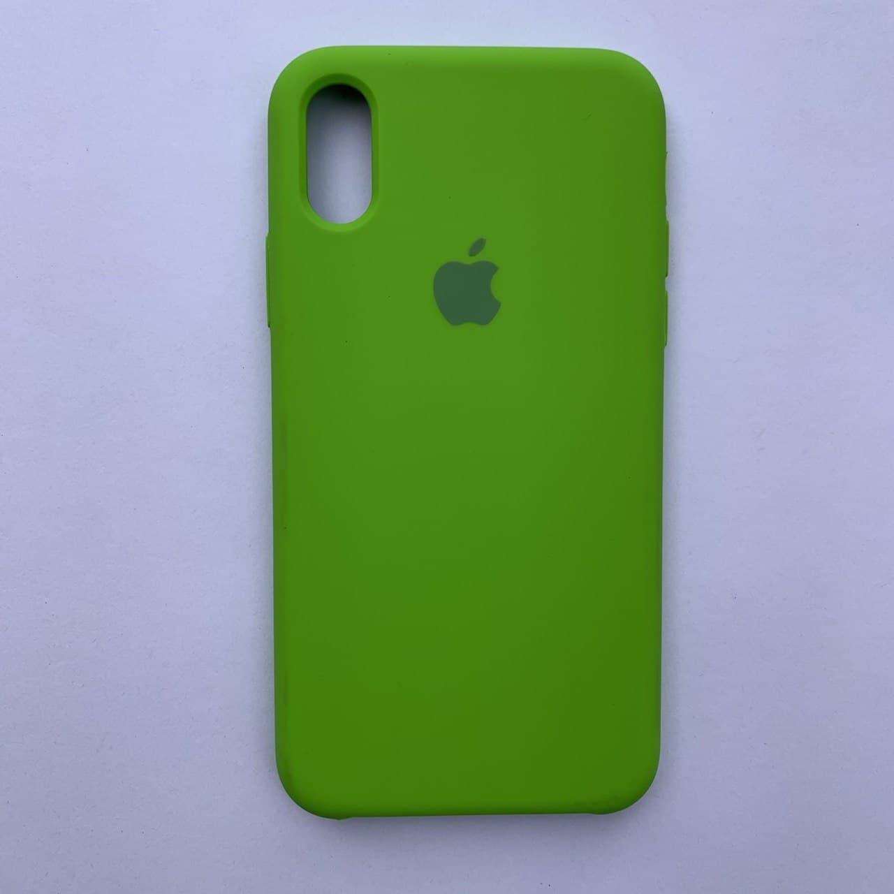 Чехол Silicone Case для Apple iPhone X, XS Dark Green