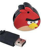 Флеш накопитель 8GB, USB 2.0, фигурка Angry Birds (плоская)