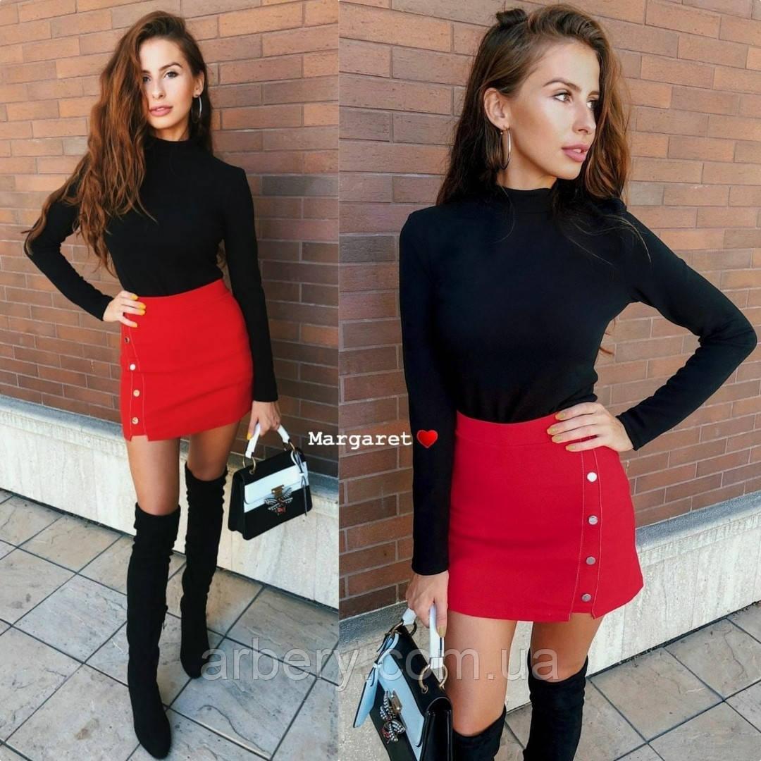 Женская джинсовая мини юбка