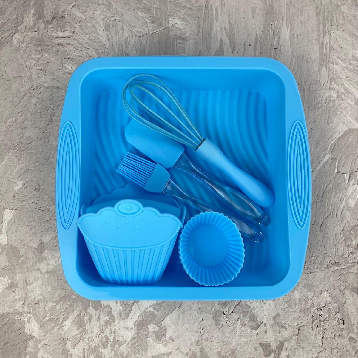 Набор силиконовый для выпечки A-Plus AP-1951-Blue 11 предметов