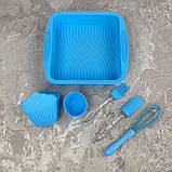 Набор силиконовый для выпечки A-Plus AP-1951-Blue 11 предметов, фото 2
