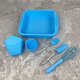 Набор силиконовый для выпечки A-Plus AP-1951-Blue 11 предметов, фото 3